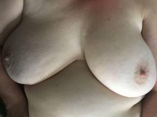 Love these white milky big titties