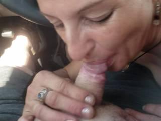 kk giving me a blow job