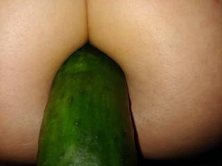 Cucumber doesn\'t seem to fit as well in my ass as it did my pussy.  Any suggestions?