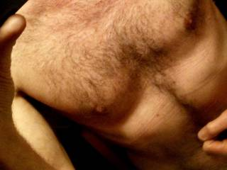 A shot of my chest w hair
