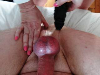 Two BIG Dicks between my legs, guess what happens next ?  Any suggestions or ideas on what you like to share with us ?
