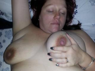 I think I want to suck on them before titty fucking you and cumming all over them, mmmmmm