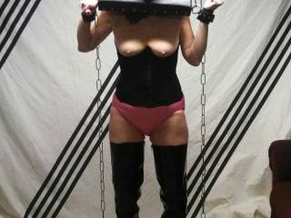 You're a lucky guy, hard to find someone who is really into bondage