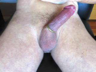 I like the looks of your hard cock with a cock ring on it....I'd love to swallow your cock and pull off your cock ring with my mouth. Do you think you'd end up cumming in my mouth as I'm sucking and trying to pull of that cock ring of using only my lips and teeth?  I love the thought of doing that.  MILF K