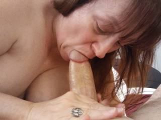 """What a tasty cock! Call it, """"Cock Worship,"""" as there is nothing like a man\'s cock in my mouth as I suck him dry."""