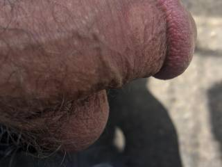 My soft cock out at work