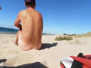 Found a nudist beach - we took some selfies