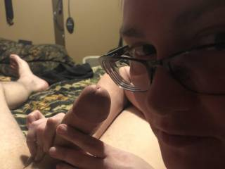 Wife going to give me a great blowjob