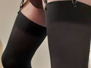 close up of dick with new stockings