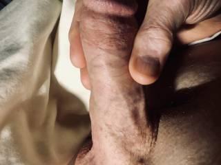 Fat swollen penis.