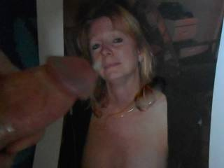 The thoughts of Bonn licking and sucking my hard cock inspires me to jack-off over her until I squirt a hot cum load over her >:)