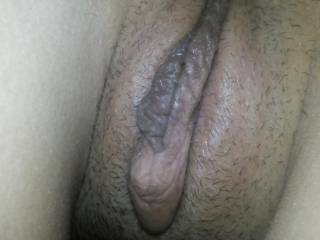 big clit and labia. Wanna fuck my wife?