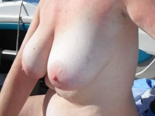 Enjoying being naked in the sun!