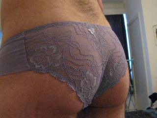 Feeling a little kinky in my wifes panties... how\'s my ass look?