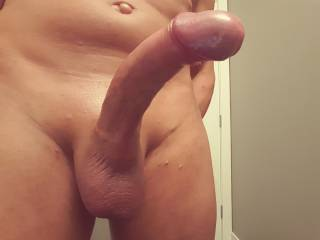 That cock is absolutely stunning. Love the smooth shave - very nice.