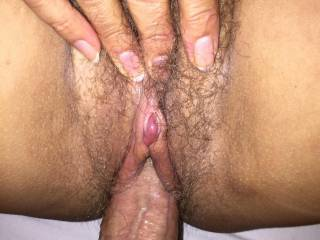 Sucking his dick with my meaty wet wings.....