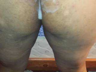 cum leaking down her ass