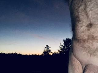 Twilight cock shot.