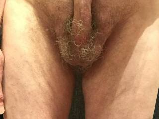 I thought that you might like a clearer view of the underside of my cock and my balls.