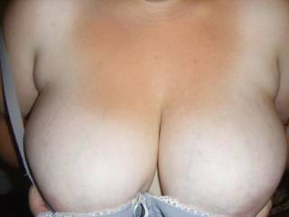 beautiful breasts  your one lucky man   Would so love to watch them swing  LIVE