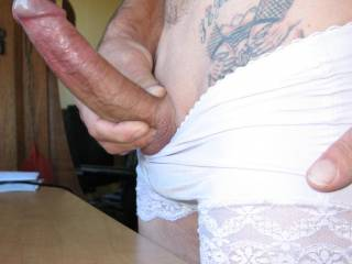 OMG! That is a very lovely and big cock! Makes us both very horny n wet!