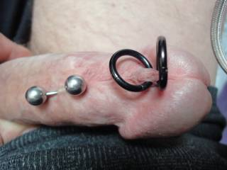 delicious piercings and love the fren piercing on your delicious circumcised cock