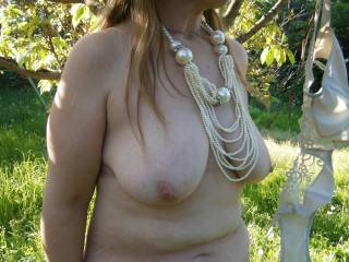 Fantastic erotic pic!  There is just something about being naked outdoors that makes us horny and the thrill of someone seeing so exhilarating! Love it!