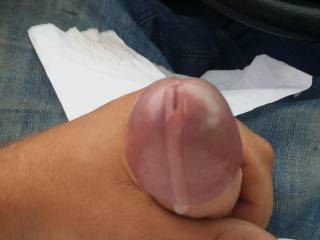 After work in a parking lot..well, I, got the urge so a little precum