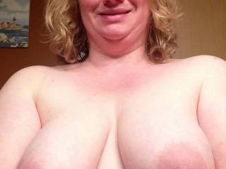 I'd love to suck on them while you rode my throbbing hard cock to the point of blowing a huge load deep inside your pussy!