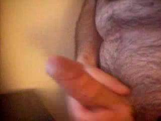 stroking my cock to a hot British babe as I give her gorgeous body a cum bath.