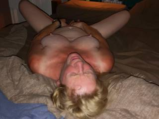 That little vibrating dildo is really doing a good job on her!