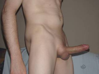 My shaved hard cock