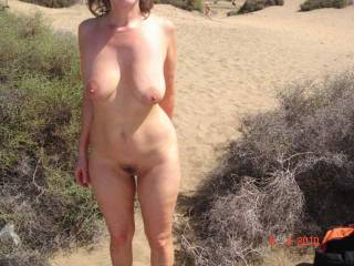 Just walking through the sand dunes in Gran Canaria checking out the naked girls! Ummm it was so much fun hope you like my picture. xxx