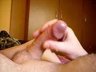 I like your smooth hard uncut cock and big cum shot.