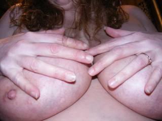 that tits look 4times biger than my gf's tits