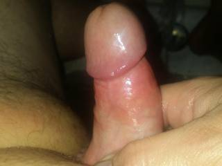 After she gets done riding me i rub her cum all over my cock and let her clean it off ! Is it clean enough 😛