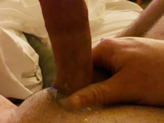 Puddle of creamy cum