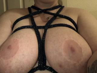 My very first self tie harness. Who wants me to try more fun with rope?