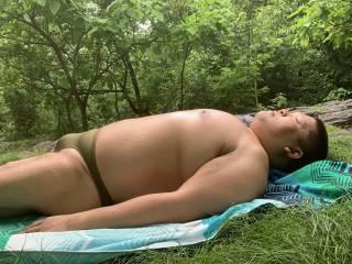 thongs, speedos, bikinis, swimsuit, bathing suit, sunbathing, Central Park,