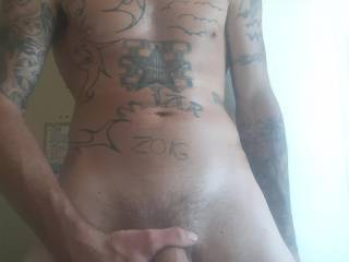 Horny as fuck stroking this hard cock