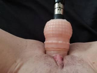 Taking this big dildo deep on my fuck machine.