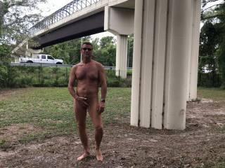 Having nude fun in Brooksville near main highway