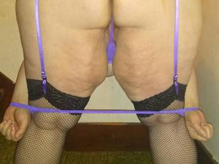 Showing off some lingerie for my husband and another of our friends, figured I would share we everyone here too.  I particularly liked the strap-cuffs it came with.