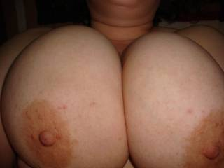 lovely titties waiting for a cock to join them!