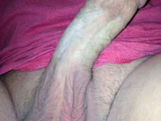 Damn you have a big thick cock I love that, wish you would slowly slide it in my tight wet kitty,while my husband fucks my sweet ass hole