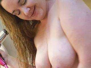 Like the way my milk filled tits look here?  What else do you like?