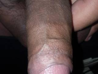 Picture of my hard cock on my birthday. Wanted to show off this young hard cock once again,enjoy yourselfs. Remember I'm always up for chat 😉