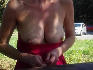 My wife is always unsure if her tits are worth showing. I think they are!!! What do you think?