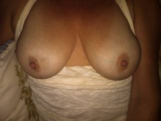 I would Love to Kiss, Lick and Suck on your Breast and Aerola's.. YUMMY..  Love and Kisses, Maryann