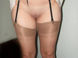 shaved and nylons 2